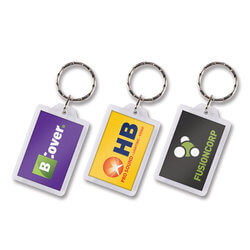 Lens Key Ring - Rectangle