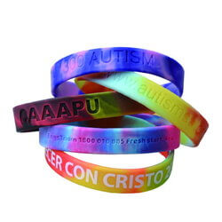 Custom Printed Marble Coloured Wristband