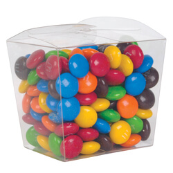 M&M's in Clear Mini Noodle Box