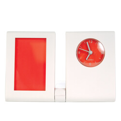 Folding Arm Desk Clock Photo Frame