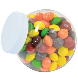 Assorted Fruit Skittles in Container