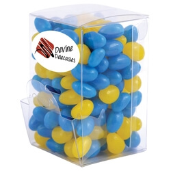 Corporate Colour Mini Jelly Beans in Mini Confectionery Dispenser