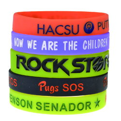 Debossed Colour filled Wristbands