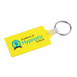 Rectangular Hard Plastic Keyring