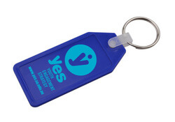 Long Hexagon Hard Plastic Keyring