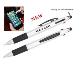 Tricolored Pen with Stylus