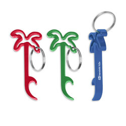 Palm Tree Bottle Opener Key Ring