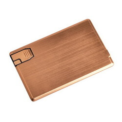 Credit Card Power Bank with USB Flash Drive