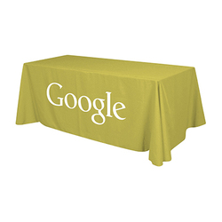 Small 4-Sided Throw Trade Show Tablecloth - Any Colour