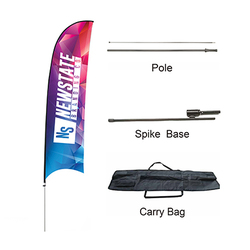 Custom Concave Advertising Feather Banners