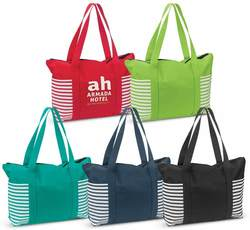 Tahiti Striped Tote Shopper Bag