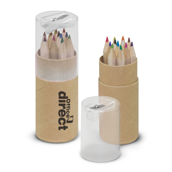 Coloured 12 Pencil Eco Tube